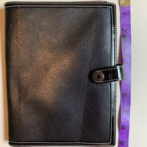 Coach Leather Day Planner